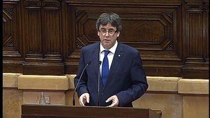 Discurs íntegre de Puigdemont sobre la qüestió de confiança