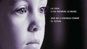 Imatge gràfica de La Marató 2001, dedicada a la sida