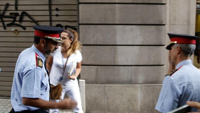 El major dels Mossos d'Esquadra, Josep Lluís Trapero, arriba a la seu de la fiscalia (ACN)