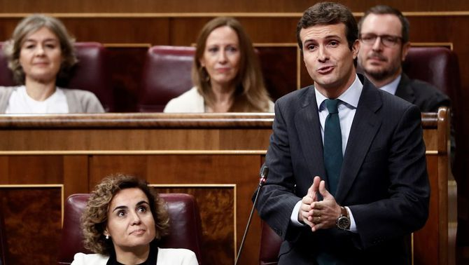Pablo Casado, del PP, al Congrés dels Diputats (EFE)