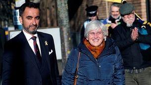 Clara Ponsatí, amb el seu advocat Aamer Anwar, el 14 de novembre passat a Edimburg