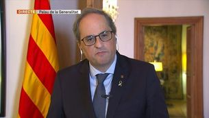 """Torra celebra la decisió de Sánchez de decretar """"el confinament total tan esperat"""""""