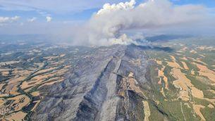 Estabilitzat l'incendi de l'Anoia i la Conca de Barberà, que ha afectat 1.700 hectàrees