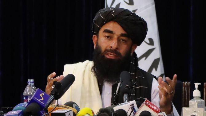 El portaveu dels talibans, Zabihullah Mujahid, aquest dimarts en roda de premsa