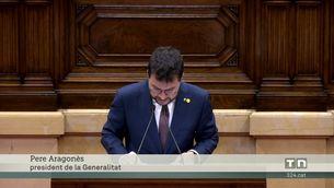 El president Aragonès emplaça als socis de Junts i al govern de l'estat a aprofitar la taula de negociació