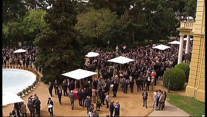 La recepció de Sant Jordi es va fer l'any passat al palau de Pedralbes.