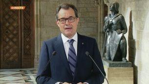 Missatge institucional d'Artur Mas després de la firma de la convocatòria