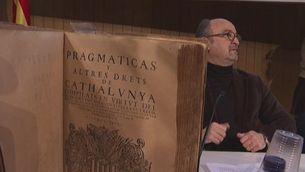 Es presenten els projectes de constitució catalana