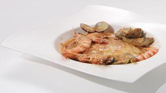 Imatge de:Suquet de bacallà amb llagostins i carxofes