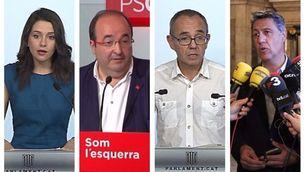 """""""Màrtirs"""", """"fugida endavant"""" i """"descomposició"""", l'oposició sobre el canvi de govern"""