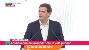 """Rivera dimiteix com a president de Cs i anuncia que deixa la política: """"Per responsabilitat, he de deixar el càrrec"""""""