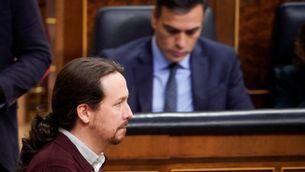 Iglesias i Sánchez, aquest dimarts al Congrés dels Diputats (Reuters / Juan Medina)