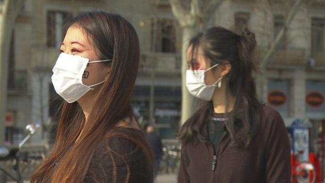 La comunitat xinesa de Barcelona, preocupada pels efectes del coronavirus