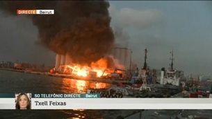 Forta explosió al port de Beirut