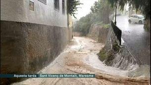 Patac de 145 litres per m2 a la Garriga, amb afectacions a escoles i Rodalies