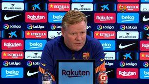 """Koeman: """"Em veig entrenant el Barça la propera temporada"""""""