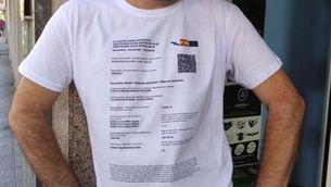 La samarreta amb el codi QR imprès