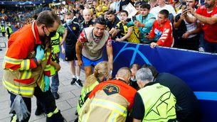 Cristiano Ronaldo estaborneix accidentalment una guàrdia de seguretat