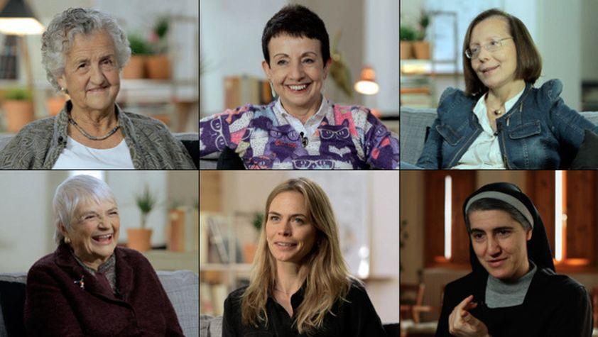 Roser Capdevila, Carme Ruscalleda, Montserat Tura, Pilarín Bayés, Verónica Blume i Teresa Forcades