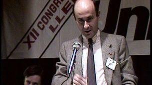 Duran i Lleida, en el Congrés d'Unió el 1983
