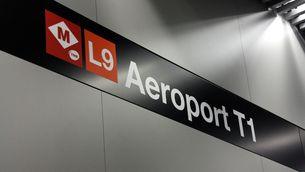 El metro arriba a l'aeroport