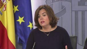 Soraya Sáenz de Santamaría sobre la crisi de la CUP