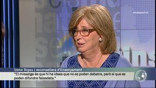 """Irene Rigau: """"La interlocutòria estava tancada de fa temps però es va guardar per després de les eleccions. És indecent"""""""