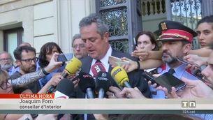 """Joaquim Forn: """"Que la gent eviti sortir de casa i desplaçar-se en aquesta zona afectada"""""""