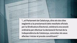 El govern anunciarà demà els resultats oficials del referèndum