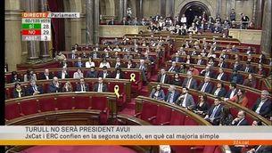 Primera votació de la investidura de Jordi Turull