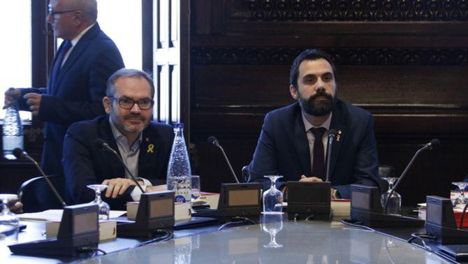 Roger Torrent i Josep Costa, president i vicepresident del Parlament