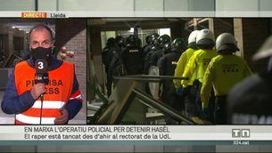 En marxa l'operació per detenir Pablo Hasél