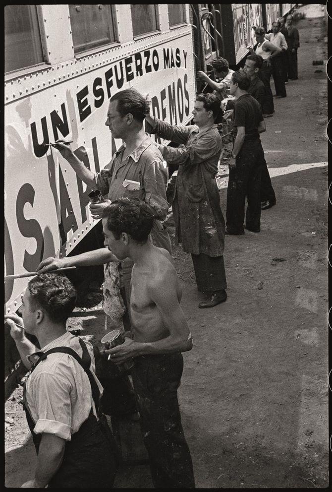 'Ferrocarrils del Nord. Pintant els trens amb propaganda antifeixista', 1936-1937