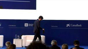 El president  Aragonès afirma davant dels empresaris que els catalans decidiran en referèndum