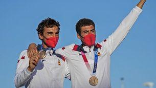 Jordi Xammar i Nico Rodríguez, medalla de bronze a Tòquio 2020 de vela en la classe 470