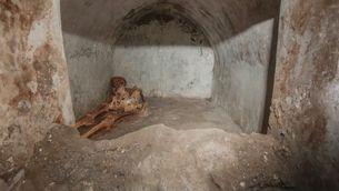 Troben a Pompeia un esquelet que intriga els arqueòlegs