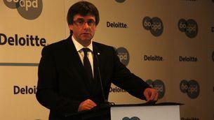 Puigdemont, en la cloenda de la jornada d'economia on ha apostat per no modificar l'IRPF (ACN)