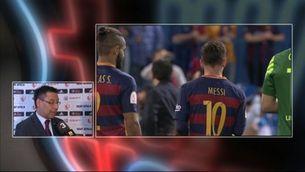 """Bartomeu: """"Hem estat els justos vencedors, el Sevilla no es mereixia el títol"""""""
