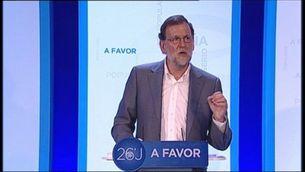 Primer acte de Rajoy a Catalunya