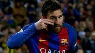 Dedicatòria solidària de Leo Messi