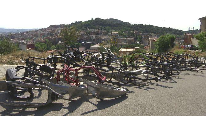 Un petit cementiri de motos robades a Collserola: del carrer al mercat negre