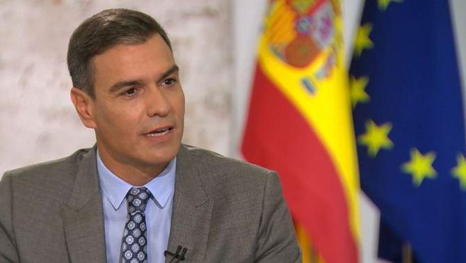 El president del govern espanyol, Pedro Sánchez, entrevistat aquest dilluns