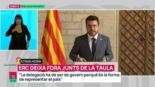 """Pere Aragonés: """"La delegació ha de ser de govern perquè és la forma de representar el país"""""""