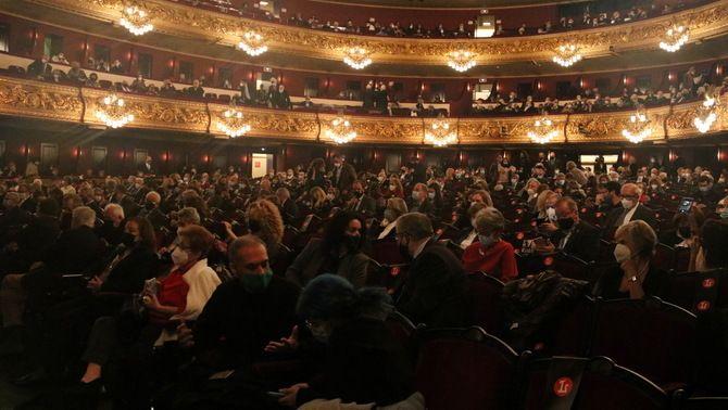 La platea del Liceu, amb el 50% de públic, el desembre de 2020