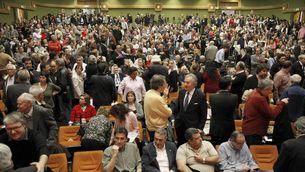 Milers de persones van acudir ahir a l'acte en suport a Garzón. (Foto: EFE)