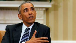 Obama, aquest dilluns a la Casa Blanca, on s'ha reunit amb el seu equip de seguretat (Reuters)