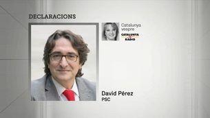 El PSC es desmarca de les polèmiques declaracions de David Pérez