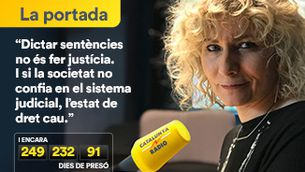 """Portada Terribas: """"Si la societat no confia en el sistema judicial, l'estat de dret cau"""""""