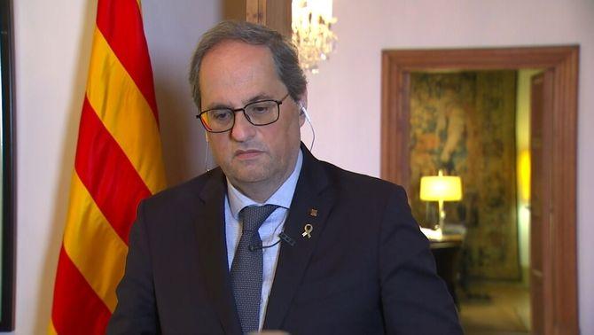"""Torra diu que Sánchez """"ha escoltat Catalunya"""", però demana més mesures econòmiques"""