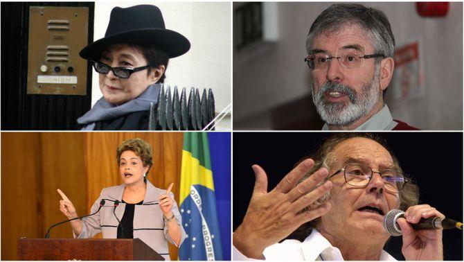 Yoko Ono, Dilma Rousseff i 5 Nobels, en un manifest d'Òmnium per l'amnistia dels presos